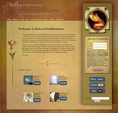 web site for new age publisher